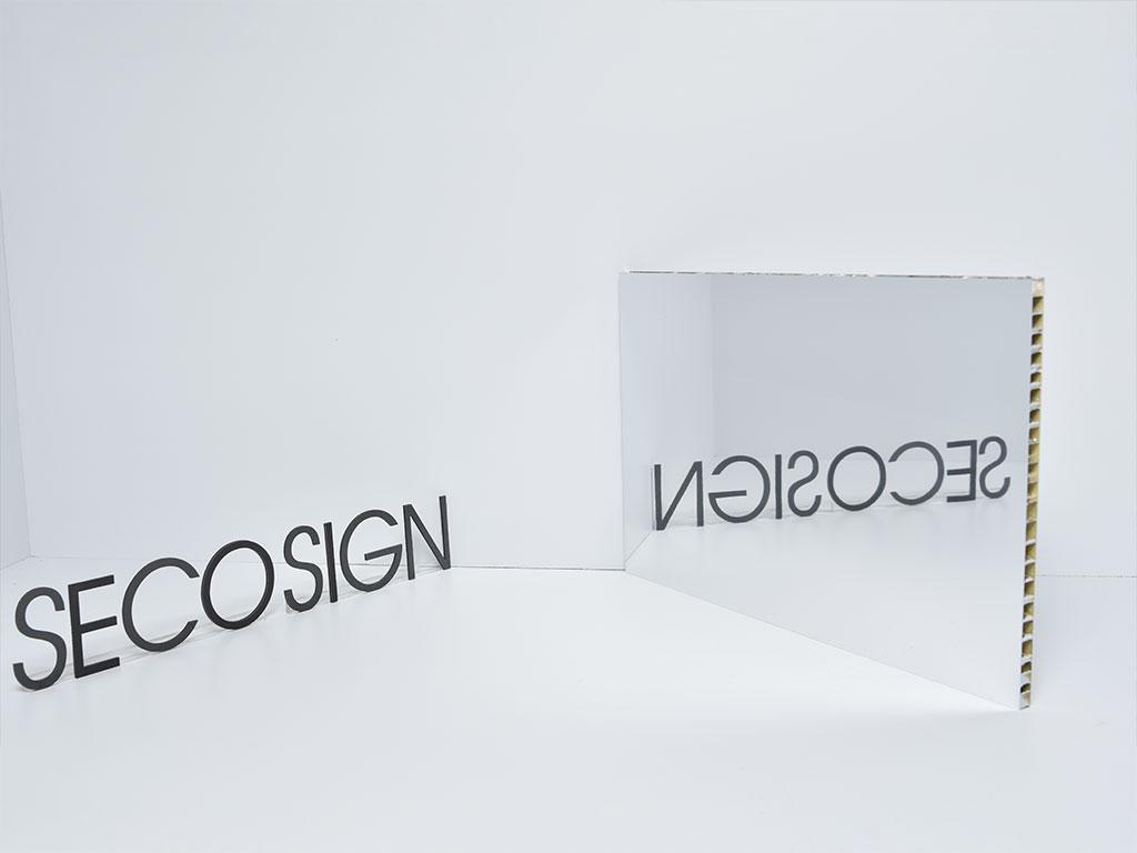 alu comb spiegel seco sign gmbh. Black Bedroom Furniture Sets. Home Design Ideas