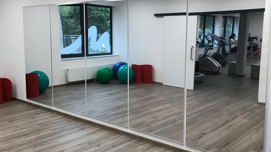 Spiegel Fitnessraum referenzen seco sign gmbh